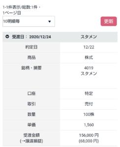 CONNECTスタメン利確履歴